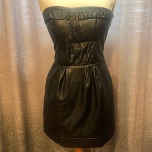Stunning Goldie faux leather lets party dress
